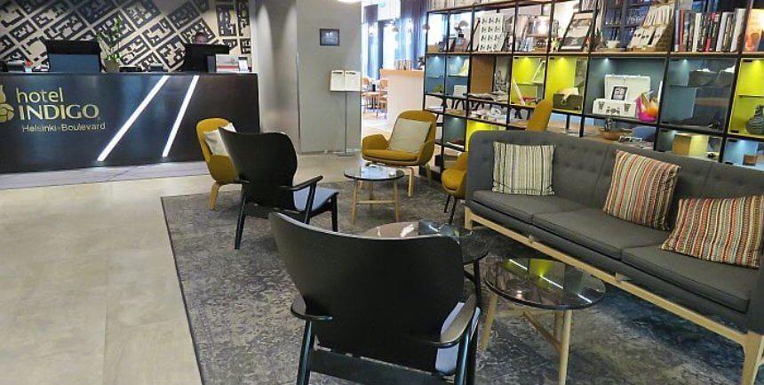 Lobby Hotel Indigo Helsinki - Boulevard