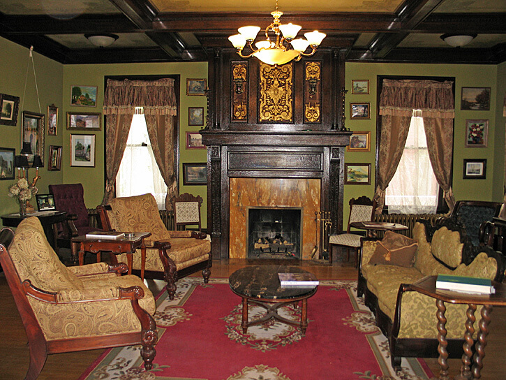 Parlor, Laurium Manor Inn, Laurium, Michigan (Photo by Susan McKee)