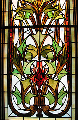 Stained glass, Laurium Manor Inn, Laurium, Michigan (Photo by Susan McKee)
