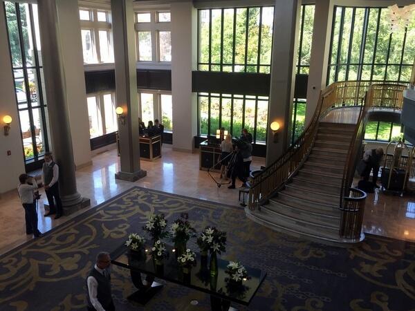 Lobby, Fairmont Empress Hotel, Victoria, BC Canada