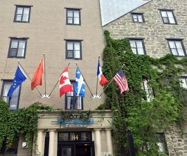 Exterior, Hotel Port-Royal, Quebec City, Canada
