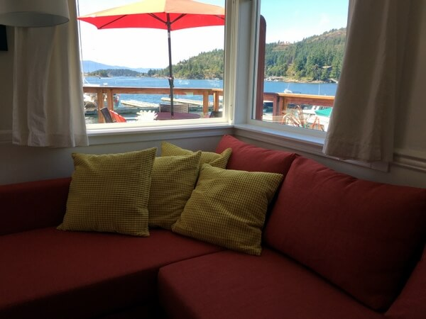 Cottage living room, John Henry's resort, Sunshine Coast, BC