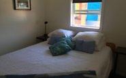 Cottage bedroom, John Henry's resort, Sunshine Coast, BC