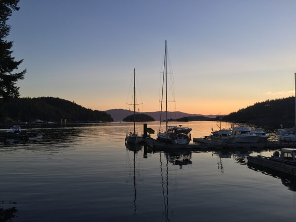 Sunset, John Henry's resort, Sunshine Coast, BC