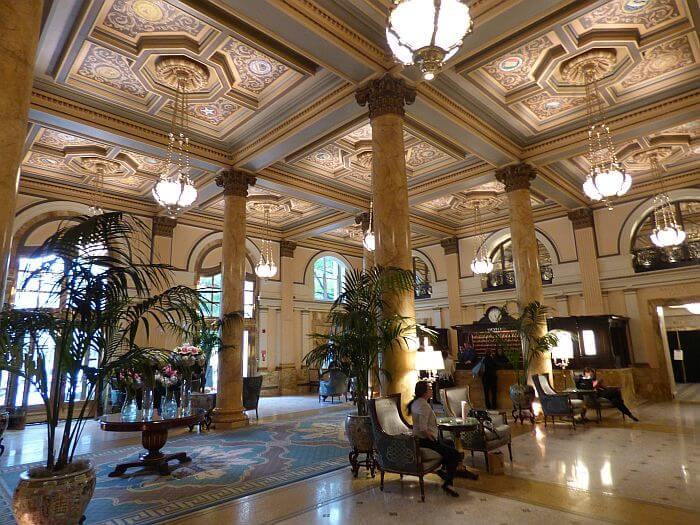 Willard Intercontinental hotel lobby DC