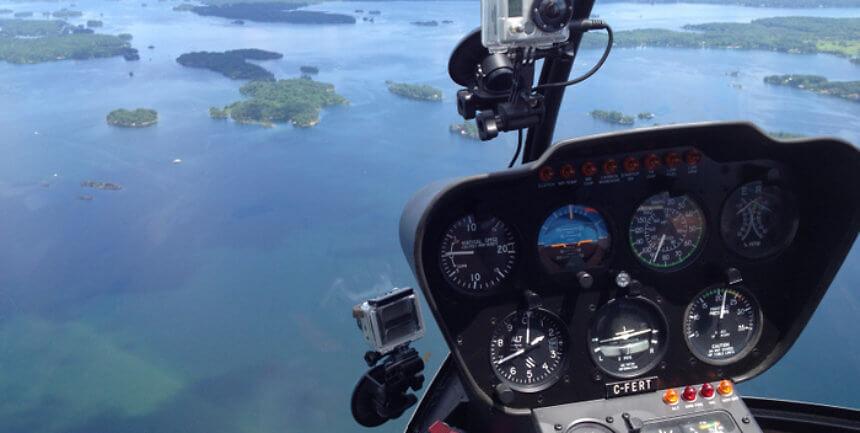 1000 Islands Via Helicopter, Gananoque, Ontario, Canada