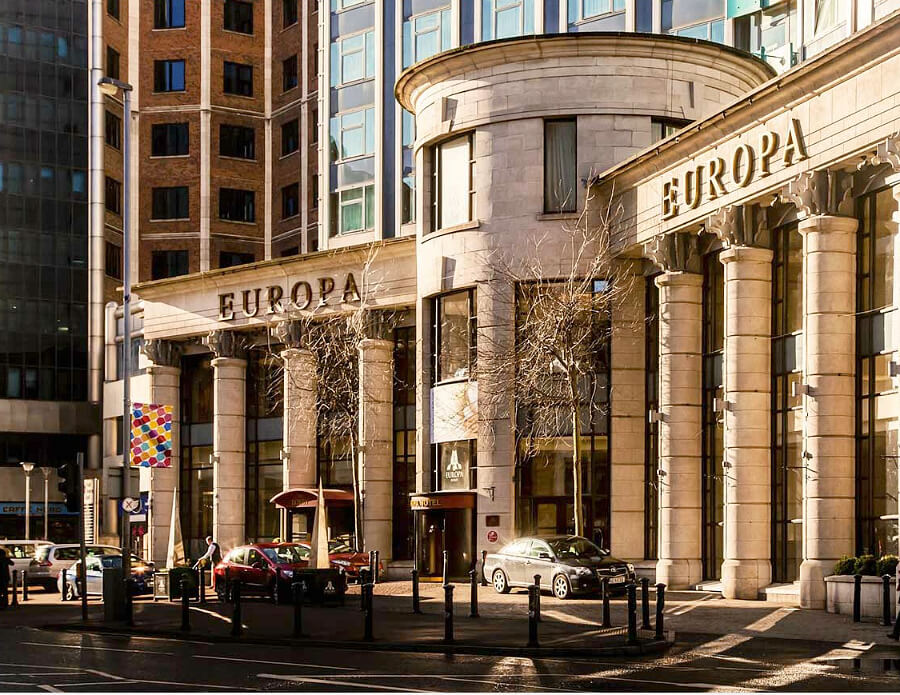 Don't miss a stay at the Europa Belfast hotel in Northern Ireland.