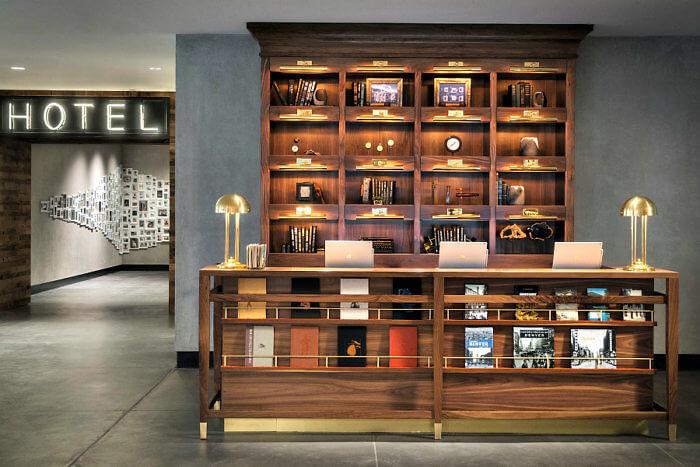 Reception desk - The Maven Hotel, Downtown Denver, Colorado