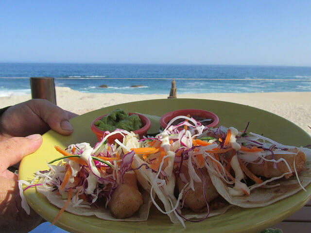 fish tacos, coralline, beachfront dining, westin los cabos, Mexican street food