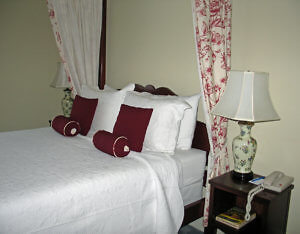 Bedroom Number 5 at the Tattingstone Inn. (Photo by Susan McKee)
