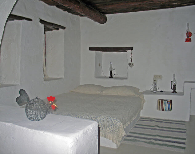 Each unit at Koutsounari Traditional Cottages in Ierapetra is unique with rooms on many levels. (Photo by Susan McKee)
