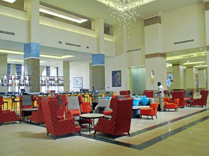 Hilton N'Djamena in the capital city of Chad is located on the Chari River. (Photo by Susan McKee)