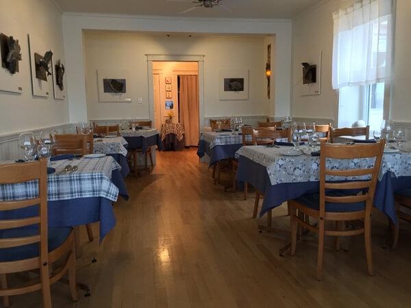 Dining room, Auberge Chez Denis a Francois, Magdalen Islands, Quebec, Canada