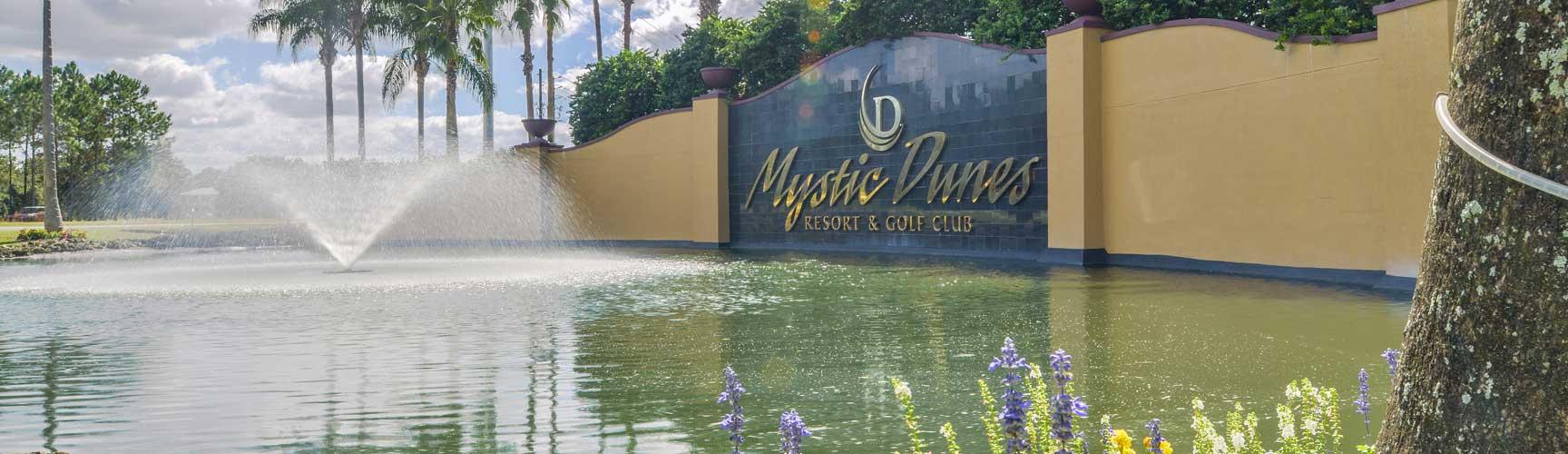 Budget and family friendly Mystic Dunes Resort & Golf Club near Walt Disney World.