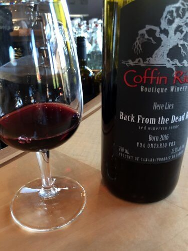 Wine tasting, Coffin Ridge Winery, Grey County, Ontario, Canada
