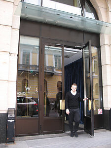 Doorway to W Hotel, St. Petersburg, Russia (Photo by Susan McKee)