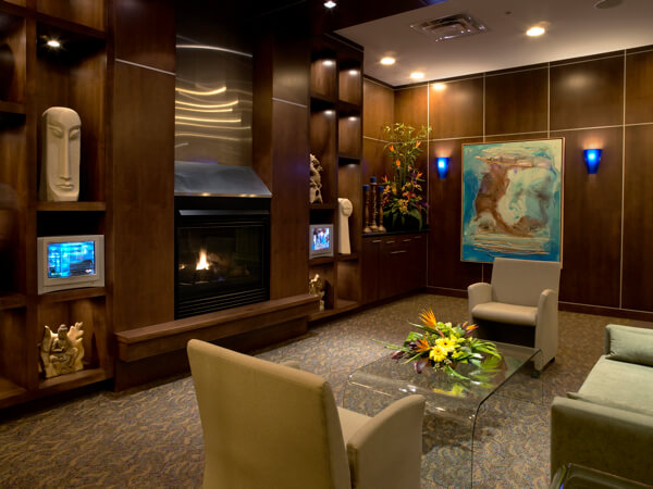 "The ""conversation room"" at te Metterra Hotel, Edmonton, Alberta"