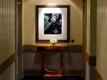 Photos in the corridor, Hotel deLuxe, Portland, OR