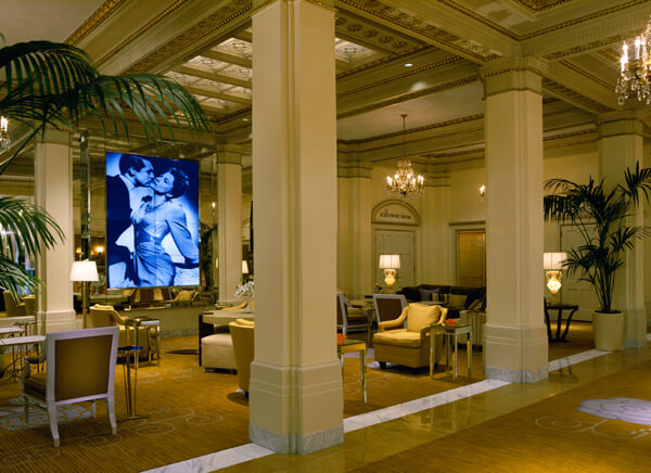 Lobby, Hotel deLuxe, historic hotel in Portland, Oregon