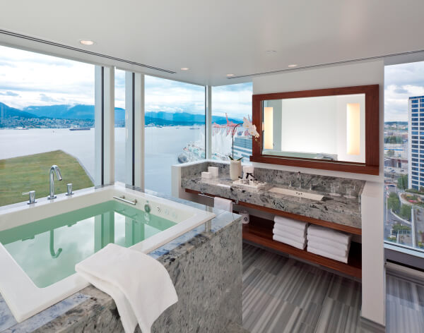 Ofuro bathroom, Fairmont Pacific Rim Hotel, Vancouver BC Canada