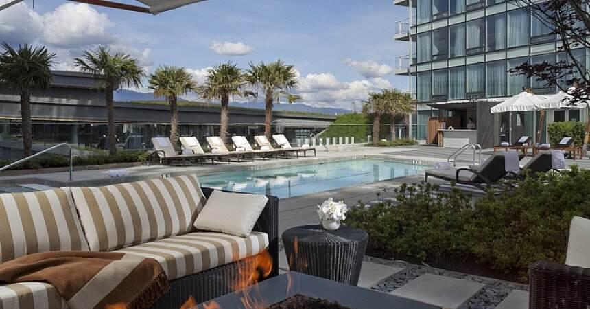 Pool, Fairmont Pacific Rim Hotel, Vancouver BC Canada
