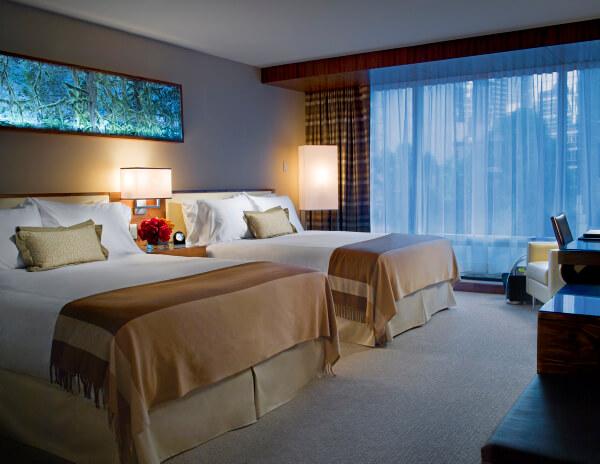 Guest room, Fairmont Pacific Rim Hotel, Vancouver BC Canada