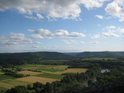 """views of Lot valley, Cahors"""
