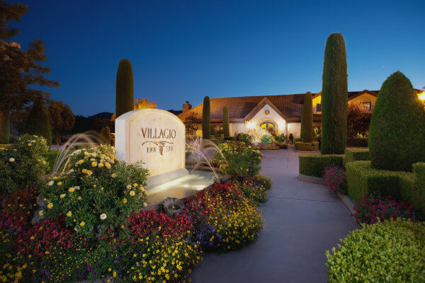 The Entrance to the Villagio Inn and Spa