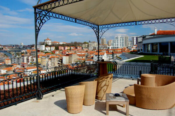 The Yeatman Hotel has several seating areas that offer great views of Porto