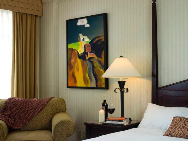 Gallery room, Listel Hotel, Vancouver, British Columbia, Canada