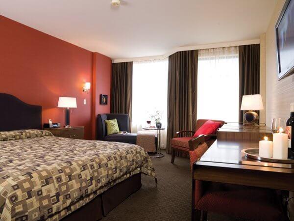 Standard room, Listel Hotel, Vancouver, British Columbia, Canada