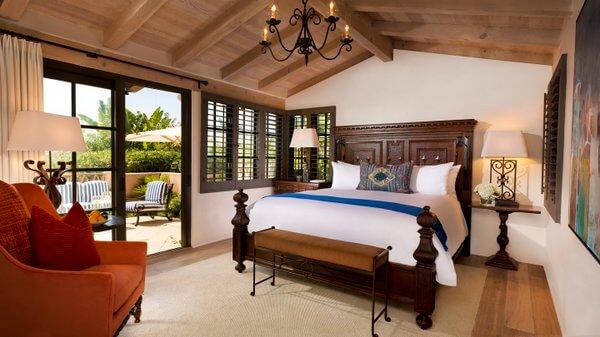 Bedroom, Rancho Valencia Resort, San Diego, California