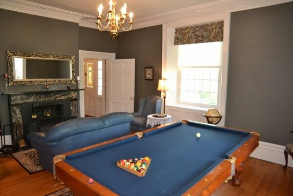 Games room, Brockamour Manor, Niagara-on-the-Lake, Ontario, Canada