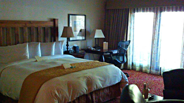 Rooms at Harvest Inn have fireplaces and private patios