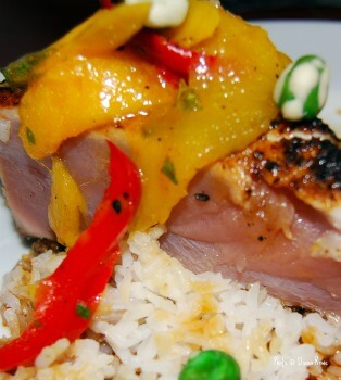 Ahi Tuna at Azure Restaurant, Shores Resort & Spa, Daytona Beach