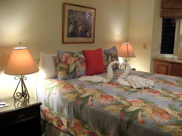 Malolo cottage bedroom, Inn at Mama's Fish House, Maui, Hawaii