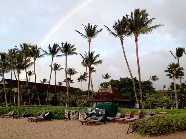 Rainbow over Ka'anapali Beach, Maui