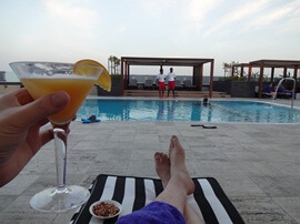 Passion Fruit Martini at the Pullman Pool in Dubai