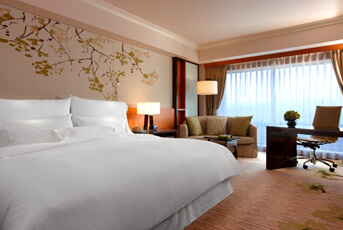 Comfort at the Taipei Westin in a Deluxe King room