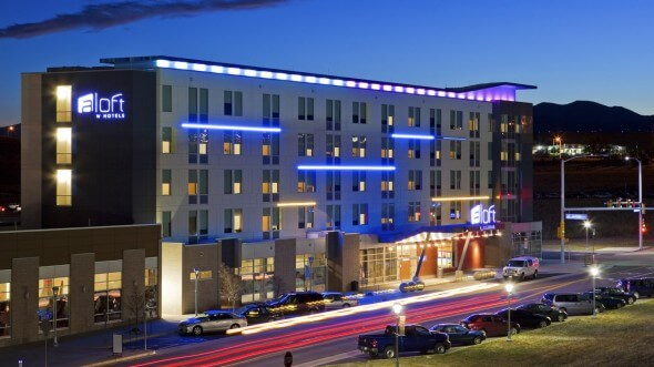 The Aloft Broomfield Denver is located between Boulder and Denver.