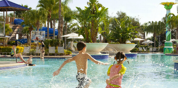 Spend a day in the lazy room or at the 2 Hilton Orlando resort pools.