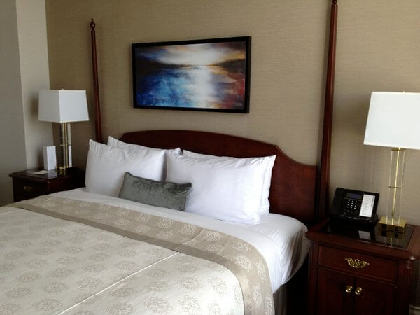 Guest room, Magnolia Hotel, Victoria, BC, Canada
