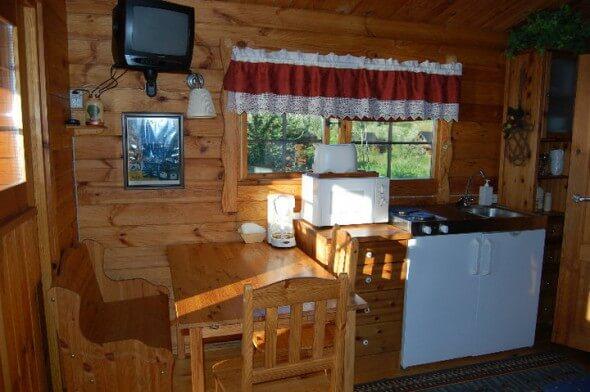 The kitchen at Kaldbaks-Kot