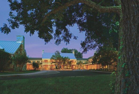 Entrance to the Hyatt Regency Lost Pines Resort