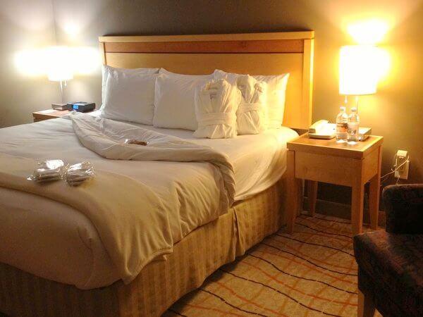 Guest room. Inn at The Forks, Winnipeg, Manitoba, Canada