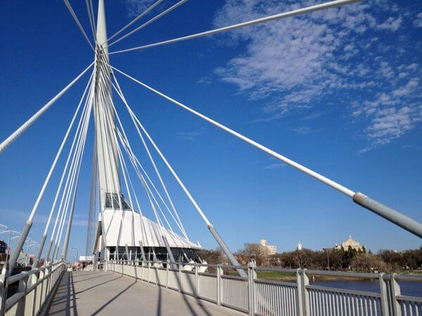 Provencher Bridge to Saint Boniface, Winnipeg, Manitoba, Canada