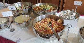 A salad sampling of the brunch buffett