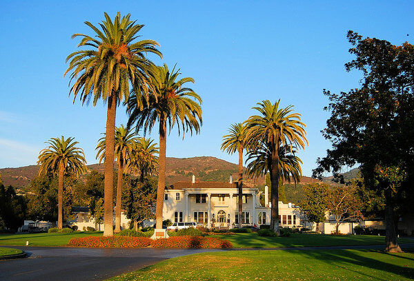 The main building at Silverado Resort