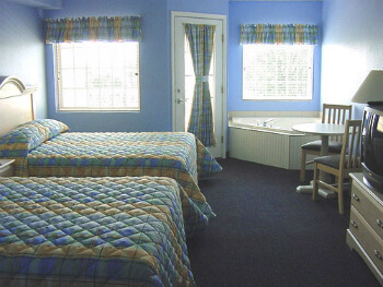 A hotel room at South Beach Resort--Lake Erie