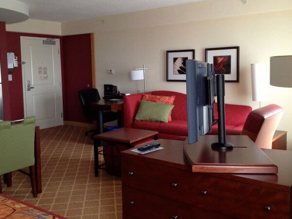 Guest room, Moncton Residence Inn, New Brunswick